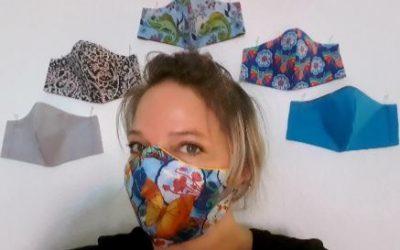 Farbige Masken gegen die Ausbreitung von Corona